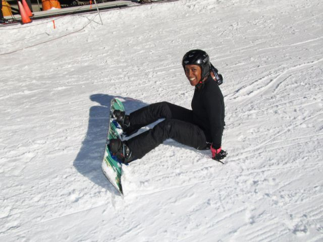 Tonya Snowboarding