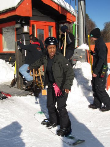 Snowboarding at Appalachain Ski Resort