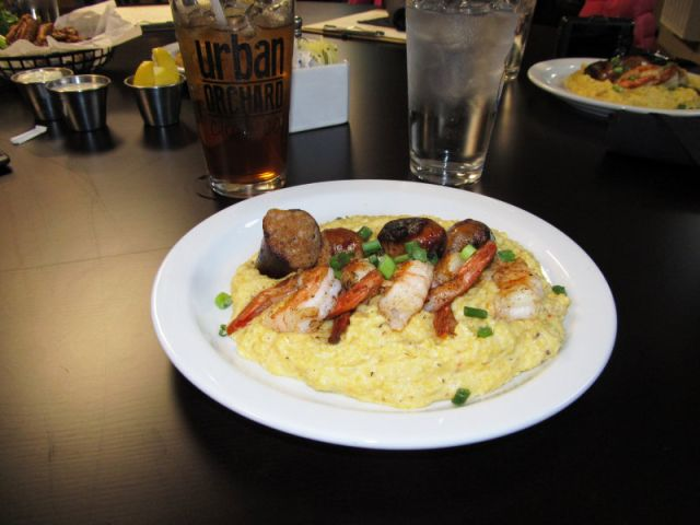 Shrimp and Grits at Beech Mountian