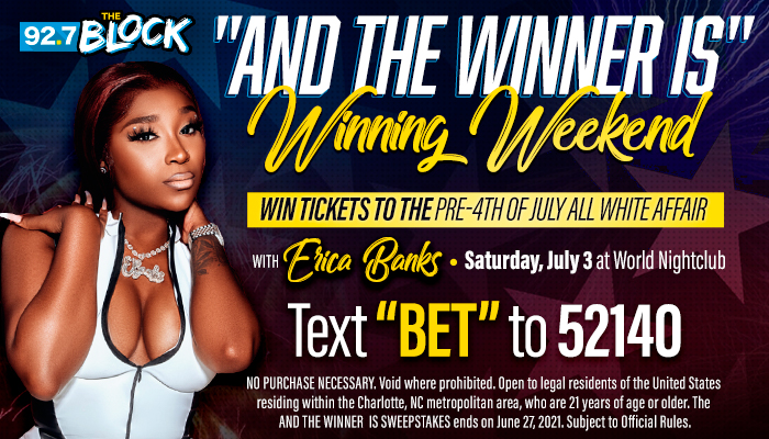 """Local: """"The And The Winner Is"""" Winning Weekend Contest_RD Charlotte WQNC_June 2021"""